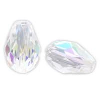 10 Glasperlen Tropfen AB Schimmer 11x8mm crystal Quartz Perle Glasschliffperlen