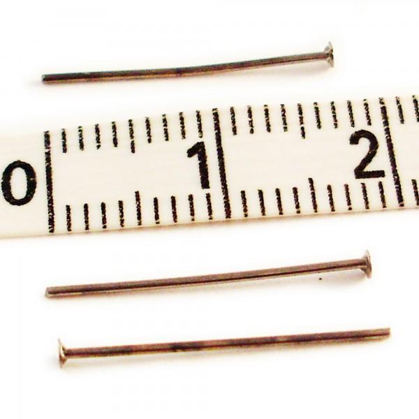 50 Kopfstifte schwarz 18mm Dicke 0,5mm Kopf 1mm Nietstifte Kettelstifte Ohrring