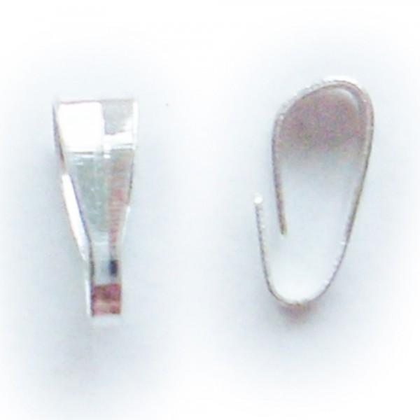 40 Anhänger Verbinder 3x6mm für Collier Ketten silber gold schlicht Verbindung