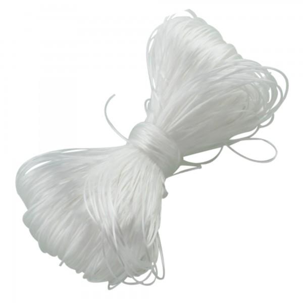 Nylonfaden 100m 0,8-1mm (0,10€ pro m) elastisch aus Südkorea Schmuck Schnur Band
