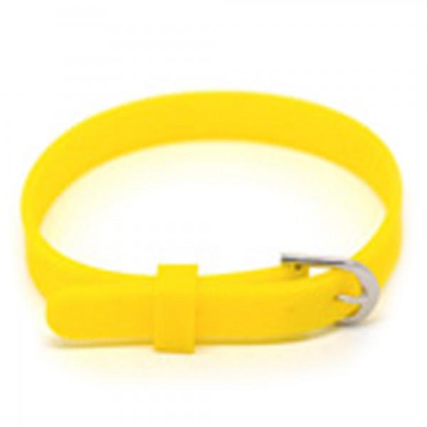 1/10x Silikon Armband 8mm x 21cm für Slider Schiebe Module charm Uhr Armband