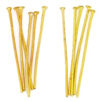 50 Kopfstifte Kopf 1,5mm x Dicke 0,7mm x Länge 25mm goldfarben Niet Kettel Stift