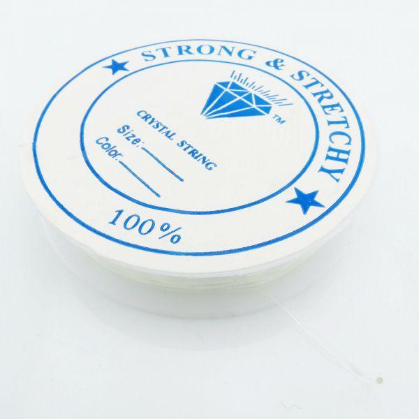 10m Silikonband 0,7mm (0,23€ pro m) Gummi elastisch Rolle Stretch Schnur Faden
