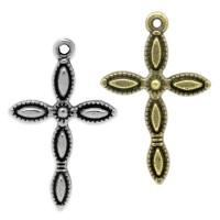 5 Kreuze 29mm Anhänger für Rosenkranz Bettel Kette Bettelarmband charm kruzefix