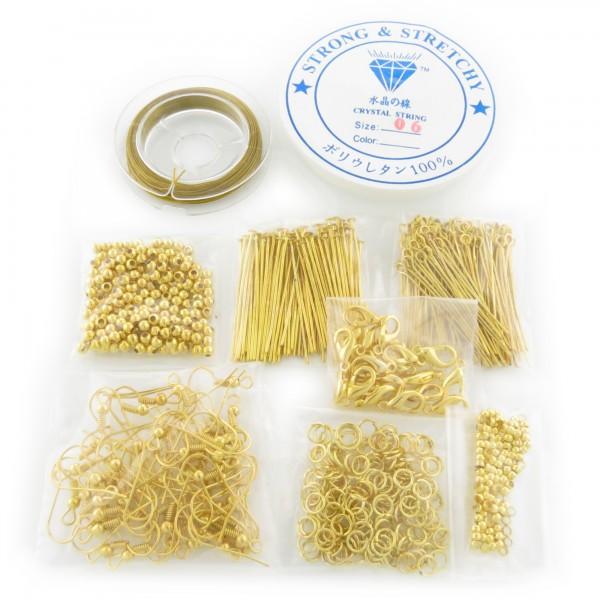 Bastelset für Schmuck basteln machen silber gold bronze Bastelpaket Bastler