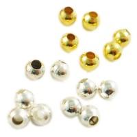 50 Zwischenperlen 3mm klein silber gold Spacer Kugel rund kleine Spacers süß