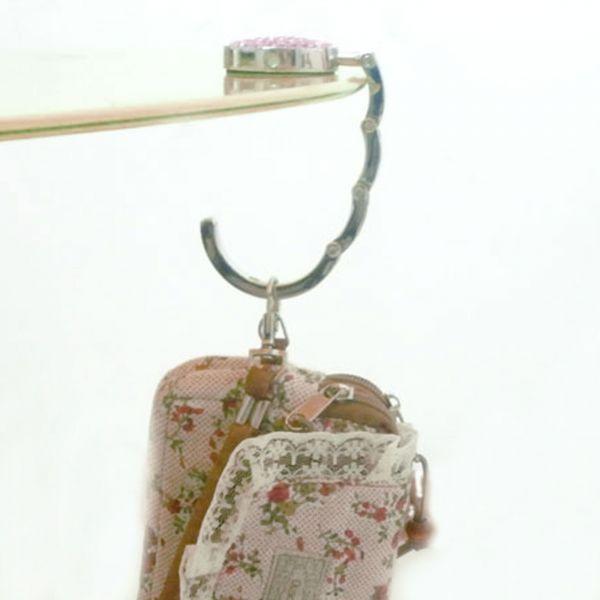 Strass Taschenhalter mit Box 11x44mm Handtasche Halter Bagbutler Haken