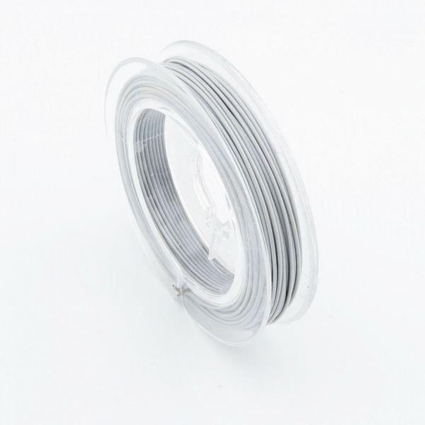 10m Schmuckdraht 0,45mm (0,20€ pro m) weiß silber gold schwarz Draht Edelstahl