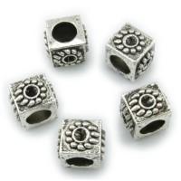 5 European Beads 9x7mm Sonne Fädelloch 4,8mm silber Spacer Blume Kreis Großloch